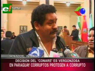 Senador Ávalos: «En Paraguay corruptos protegen a un ladrón de nuestro país»