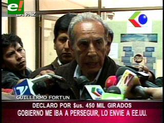 Guillermo Fortún declaró sobre los 450 mil dólares girados a EEUU