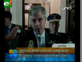 Vicepresidente niega que haya presión del Gobierno al Defensor del Pueblo