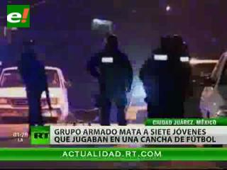 México: Grupo armado mata a siete jóvenes que jugaban partido de fútbol