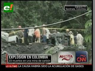 Explosión en Colombia, 23 mineros muertos en una mina de carbón