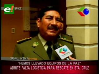 Oscar Nina admite falta de logística en la policía para el rescate en Santa Cruz
