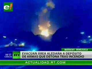 Serie de explosiones en un arsenal de armas hace evacuar una ciudad venezolana