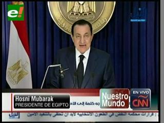 """Mubarak le habla al pueblo egipcio: """"Tomaré las medidas para traspasar el poder"""""""