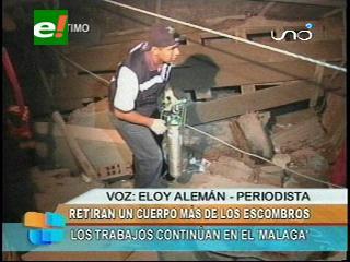 Retiran un cuerpo más de los escombros del Málaga