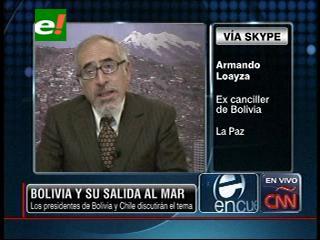 Armando Loayza: «El gobierno boliviano está preparado para negociar una salida al mar con Chile»