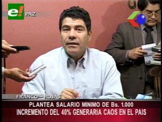 Unidad Nacional plantea un salario mínimo de mil bolivianos