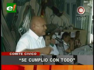 Luis Núñez: «Se cumplió con la defensa a Santa Cruz frente al ataque del Gobierno»