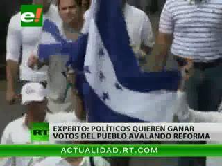 Honduras dividida en torno a reforma constitucional