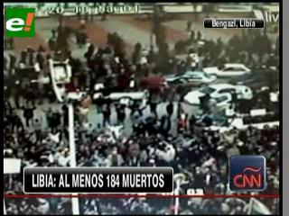Protestas en Libia dejan un saldo de 184 muertos