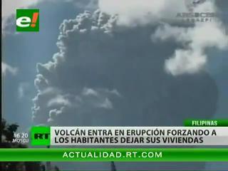 Volcán Bulusan en Filipinas provoca evacuación de centenares de personas