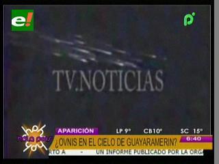 ¿OVNIS o Lluvia de meteoros en Guayaramerín?