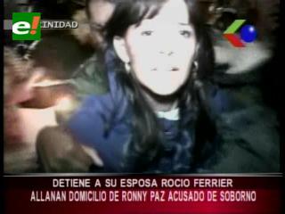 Beni: Policía allanó domicilio de Ronny Paz, detienen a su esposa Rocío Ferrier