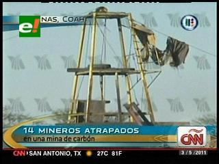 Accidente en mina de carbón deja 14 mineros atrapados en México