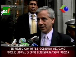 Vicepresidente se reunió con representantes mexicanos, proceso judicial determinará valor de FANCESA
