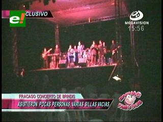 """Fracasó el concierto de """"Brindis"""" en Montero"""