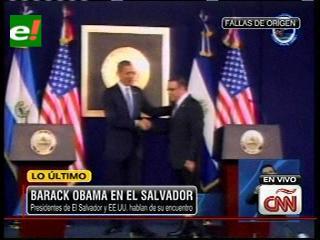 Barack Obama culmina su gira por Latinoamérica en El Salvador