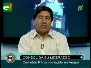 Demetrio Peréz es reelegido como Presidente de ANAPO