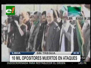 Van 10 mil muertos desde el inicio de las revueltas opositoras en Libia