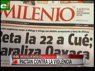 Medios de comunicacion de México firman acuerdo para la cobertura informativa de la violencia