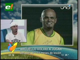 Francisco Arguello volvió a jugar después de 6 meses de lesión