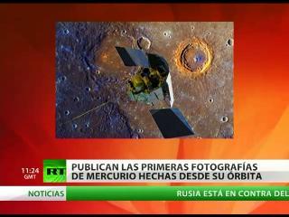 Publican las primeras fotografías de Mercurio