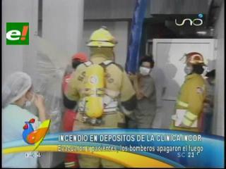 Incendio en los depósitos de la Clínica Incor