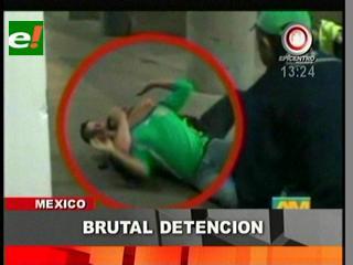 Hincha mexicano es golpeado brutalmente por Policía en EEUU