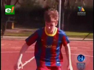 Justin Bieber jugó al fútbol y eligió usar la camiseta del Barça
