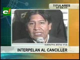 Parlamentarios interpelan al Canciller David Choquehuanca por el conflicto marítimo