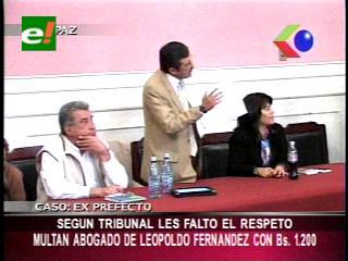 Multan al abogado de Leopoldo Fernández por pedir traslado de penal