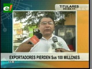 Exportadores pierden millones por la baja del dólar