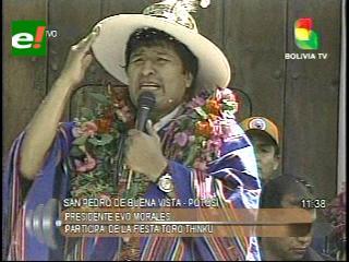 Evo: «El Imperio Inglés y sus gobiernos decidieron acabar con los indígenas quechuas y aymaras»»