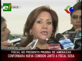 Fiscalía de La Paz anuncia la conformación de una comisión de fiscales que colabore a Marcelo Soza