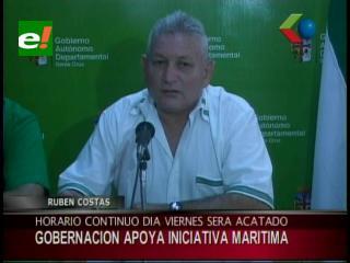 Gobernación de Santa Cruz apoya iniciativa marítima