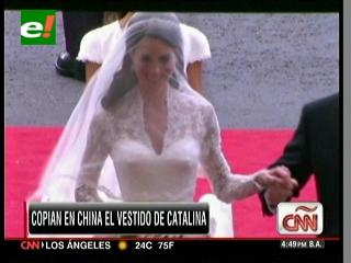 Copian en China el vestido Catalina Middleton