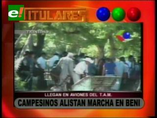 Campesinos alistan marcha en Beni, Gobernador teme enfrentamientos