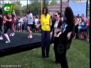 Michelle Obama baila al ritmo de Beyoncé