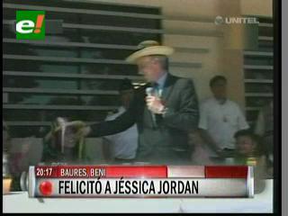 García Linera felicitó a Jessica Jordan por su cumpleaños, ella le pide una sucursal del Banco Unión como regalo