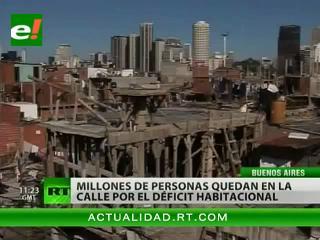 Déficit habitacional en Argentina deja a millones sin un techo digno