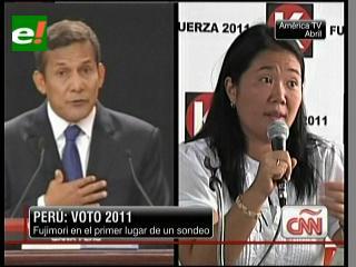 Fujimori supera a Humala por primera vez en los sondeos