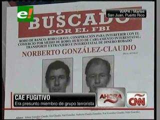 EEUU: Cae fugitivo, era presunto miembro del grupo terrorista «Los Macheteros»