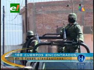 México: Suben a 188 los cuerpos en fosas clandestinas en Durango