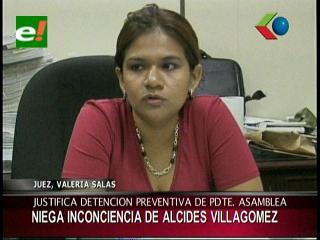 Juez justifica detención de Alcides Villagómez