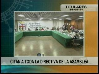 Fiscalía cita a todo el directorio de la Asamblea Departamental Cruceña
