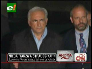 Niegan fianza a Strauss-Kahn