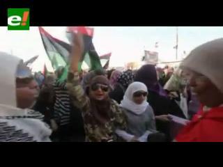 Estallido de alegría en Bengasi