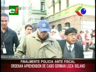 """Fiscal ordena aprehensión del cabo Loza por caso """"placas clonadas"""""""