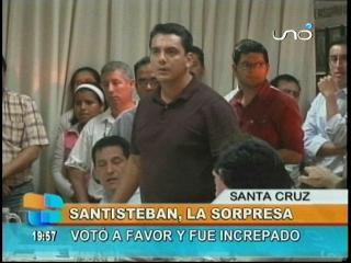 Asambleísta Jorge Santistevan la sorpresa, votó a favor y fue increpado