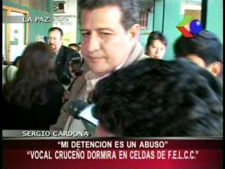 Sergio Cardona: «Mi detención es un abuso»